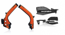 Acerbis Frame Cover X-Grip ORG SX SXF 125 250 16-18 X Ultimate HandGuards BLK